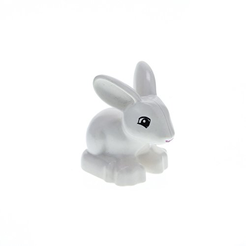 1 x Lego Duplo Tier Hase weiß Kaninchen von Schneewittchen bunny Snow White\'s Cottage 6152