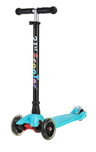 Kick Scooters for Kids LeantoSteer 3 Wheel Scooter with Adjustable Height Extra Wide Deck PU LED Flashing Light Up Wheels for Children Boys Girls Toddlers from 3 to 13 Years Old
