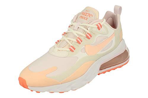 Nike W Air MAX 270 React, Zapatillas para Correr para Mujer, Summit White/Crimson Tint-Light Violet, 39 EU
