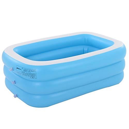 Badewannen Aufblasbare Kinder Aufblasbarer Swimmingpool Haus Adult-Badebottich Aufblasbare Kinderbadebottich Folding Kinderbecken (Color : Blue, Size : 110x90x46cm)