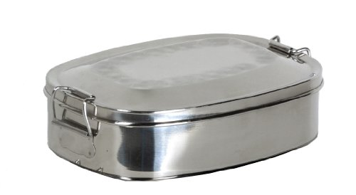 Relags Food Container, stainless steel, oval large
