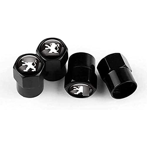 YFBB 4pcs Car Tapas para válvulas Decoración, para Peugeot 106 205 206 207 307 308T9 407SW 5008 2008 3008 408 Neumático Prueba Polvo Tire Antipolvo Valve Caps,Coche Interior Estilo Accesorios