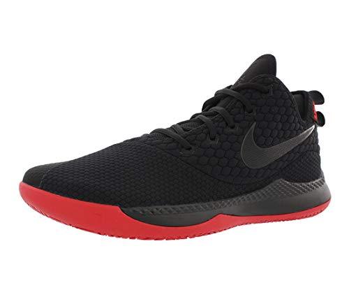 Nike Herren Lebron Witness III Basketballschuhe, Schwarz (Black/Black-University Red 006), 44.5 EU
