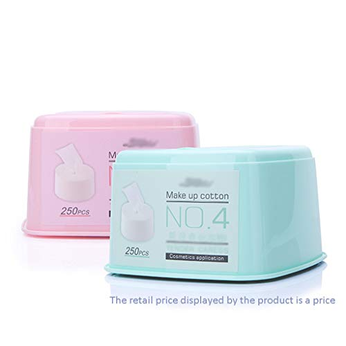 DUOER HOME Gesichtsmake-up Entferner 250 Stücke Einweg Hohe Qualität Wattepad Weich Entfernen Reinigen Gesichtsreinigung Gesichts Make-Up Entfernen Puffmatte (Color : Blue)