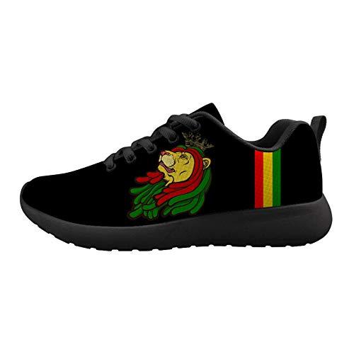 Jamaica Resta Reggae Lion King Unisex Adult Cushioning Running Shoe Athletic Walking Tennis Shoes Fashion Sneakers 46