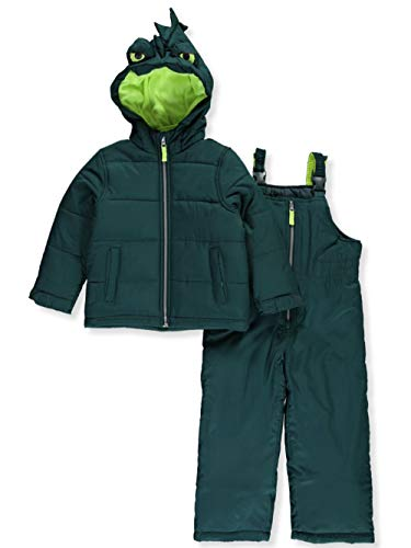 Carter's Boys' Little Character Snowsuit, Green Monster, 5/6