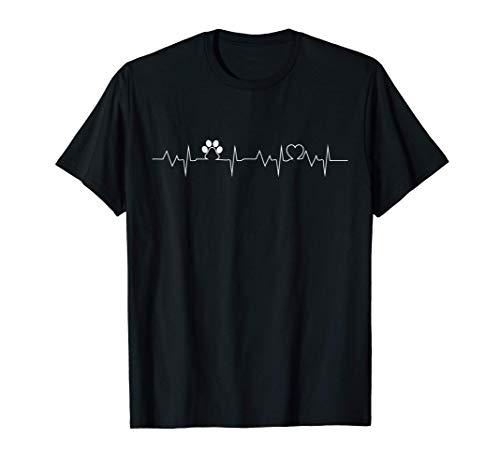 perros latidos de corazón perro propietario perro de regalo Camiseta