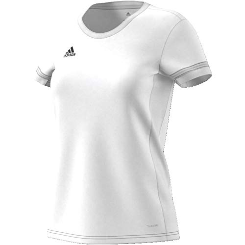 Adidas T19 SS JSY W Camiseta de Manga Corta, Mujer, White, XS