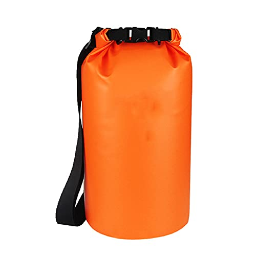 Lixiabeidai Backpack, Dry Bags, Rafting Equipment Bags with Single Shoulder Strap or Double Shoulder Strap for Kayaking Rafting Swimming Travel,Orange-25L