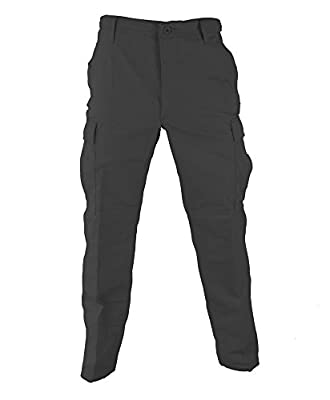 Propper Men's Zip Fly BDU Trouser, Black, Small Regular