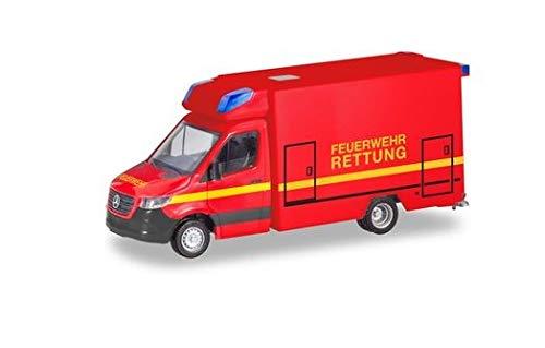 herpa 095037 RTW Neue Mercedes-Benz Sprinter kommt Nun auch mit Einer Einfachkabine Sortiment. Den Anfang Macht EIN Fahrtec Rettungswagen für die neutrale Feuerwehr-Serie, Mehrfarbig