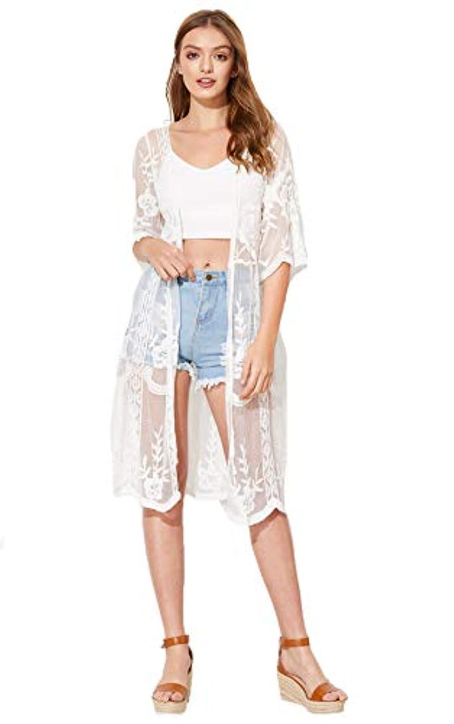 SweatyRocks Women's Striped Beach Wear Cover up Longline Kimono Cardigan