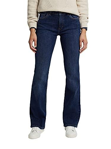 ESPRIT Damen Bootcut Superstretch Jeans, 901/BLUE Dark WASH-New Version, 30W / 32L