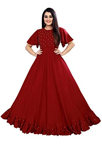 4JSTAR Women's Anarkali Maxi Gown