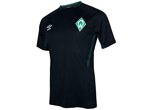 Umbro 2019-2020 Werder Bremen Training Football Soccer T-Shirt Trikot (Black)