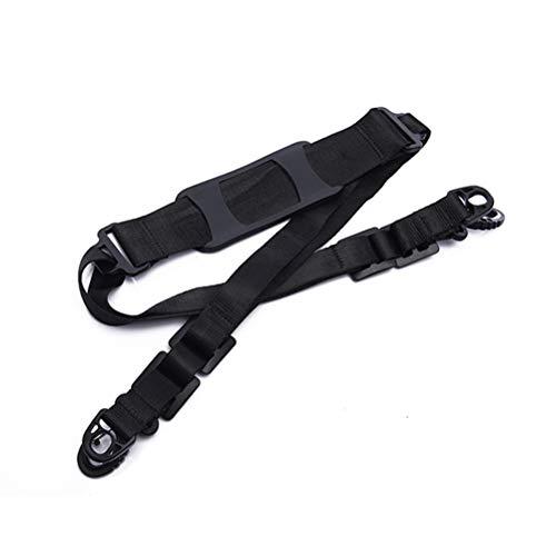 LIOOBO 1PC Nylon Hand Tragegriff Schultergurte Tragegurte Cross-Body-Bänder für Elektroroller Skateboard Schwarz