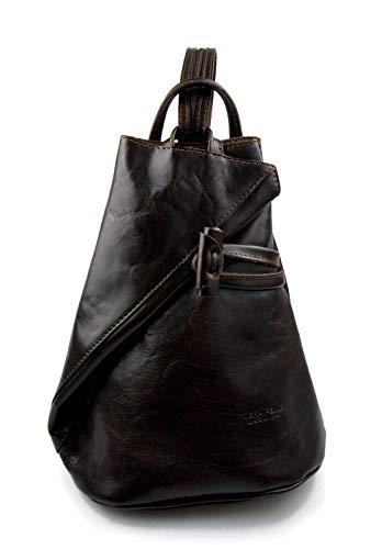 Luxury leather backpack travel bag weekender sports bag gym bag leather shoulder ladies mens bag satchel original made in Italy dark brown
