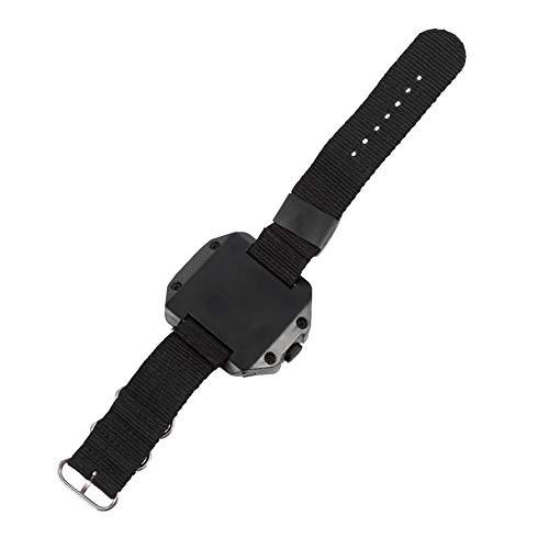 Demeras Hochwertige wiederaufladbare USB-Taschenlampe LED-Taschenlampenuhr LED-Armbanduhr Lampenlampe für Reisen zum Wandern