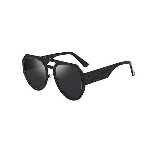 Heigmz Nvtyj - Gafas de sol para mujer con marco de flores de metal, adecuado para ir de compras, fiestas al aire libre, playas, barbacoas al aire libre (color negro)