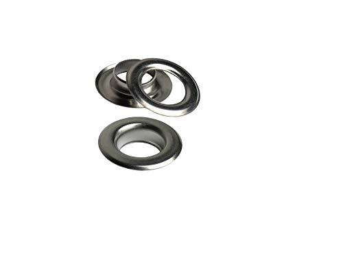 Ista Tools Ösen mit Gegenscheiben, Stahl, in Verschiedene Beschichtungen und Größen (250, 6mm / 11mm Silber)