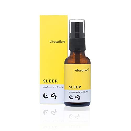 Mund-Spray zum Schlafen mit 120 Sprühstößen für 30-Gute-Nächte-Vorrat I Schlaf-Spray vegan mit natürlichen Inhaltsstoffen & Vanille-Geschmack I enthält 5-HTP für mehr Serotonin und Melatonin