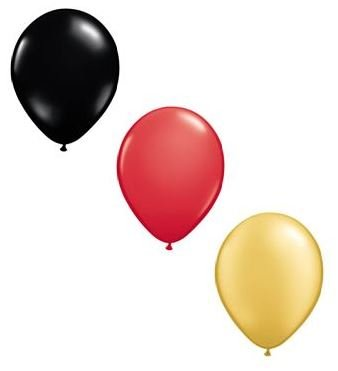 99 Luftballons schwarz rot Gold Premiumqualität Ø ca. 27cm B85