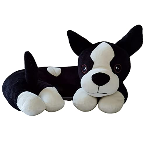 The Dog Pillow Company Plush Pet Pillow/Dog Neck Pillow for Upper Spine and Calming Support, Bentley The Boston Frenchie Curved Dog Pillow, 12 x 12 x 6 Inches