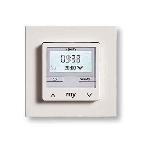 Somfy Chronis Smoove UNO 1805281 Pure White+ S.Rahmen Zeitschaltuhr für Installationsschalterprogramme 3660849544416