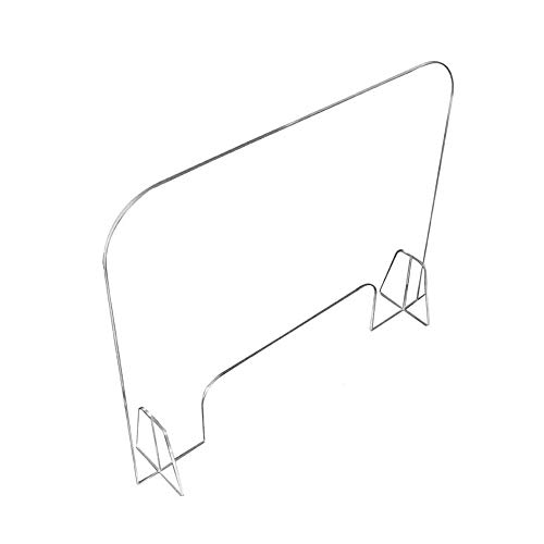 WeTest Office Acrylic Plexiglass Sneeze Guard Shield Sneeze Guard for Desk and Counter with Transaction Window