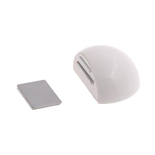WOLFPACK 5320341Türstopper Tür Selbstklebend mit Magnet Halter Weiß