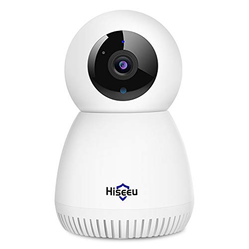 2K HD Home Wireless Security Camera Indoor WiFi IP Camera Compatible Hiseeu Wireless Security Camera System with Two-Way Audio Pan/Tilt with Object Motion Tracking Night Vision SD Card Support