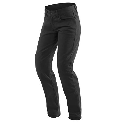 Dainese Pantalones de motorista para mujer, estilo informal, ajustados, color negro, talla 25