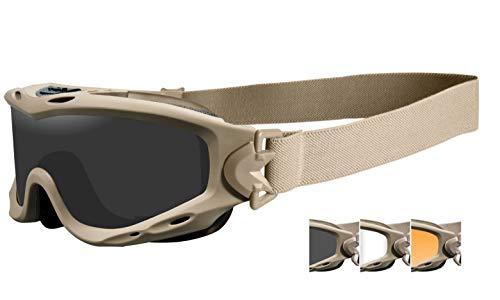 Wiley X Spear Goggles Smoke Grau Klaren Light Rust Kontaktlinsen Tan Rahmen