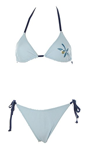 Blue Chips Damen Design Triangel Bikini Blumenprint Beachwear Damen Hellblau 36