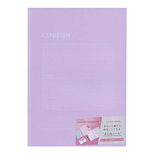 SUMMARY ノートブック B5【パープル】方眼ノート まとめノート かわいい GSB5-05