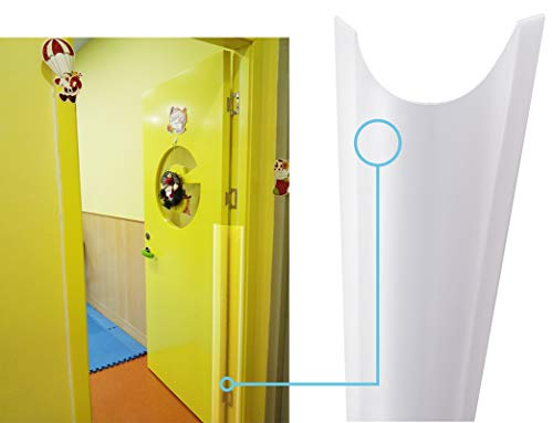 """AILUOQI Finger Pinch Protector Guards for Home, Inside, Outside, Flush Door Hinges, Gates and Pivot Doors. Door Shield Guards for Baby Proofing, Kids. Roll-up Design 47.2""""H, 6.7""""W"""