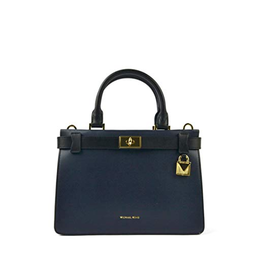 Leather Gold-tone hardware Satchel Admiral/Black Imported