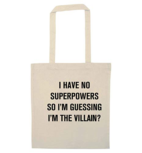 Flox Creative Tote Bag No Superpowers I'm Villain Natural