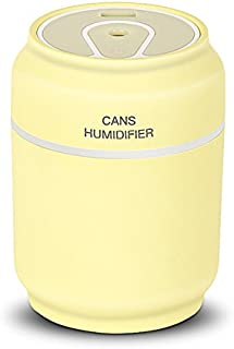 iCreation Mini Humidifier 3-in-1 Portable Mist Humidifier with USB Fan, LED Light, Auto Shut Off Protection (Yellow)