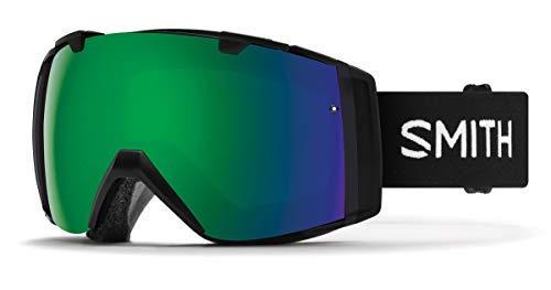 Smith I/O (Asian Fit) Snow Goggles Black/Chromapop Sun Green Mirror (Chromapop Storm Rose Flash)