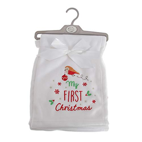 Snuggle Baby - Châle MY FIRST CHRISTMAS - Bébé (75 cm x 100 cm) (Blanc)