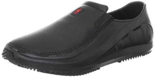 MOZO Men's Sharkz Slip Resistant Work Shoe,Black,14 M US