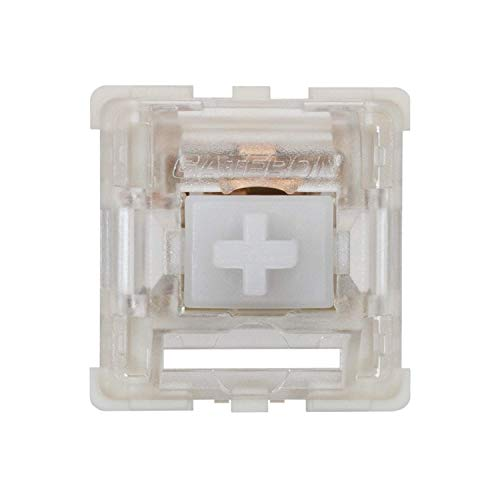 Gateron ks-9 Mechanical Key Switches for Mechanical Gaming Keyboards | Plate Mounted (Gateron Clear, 65 Pcs)