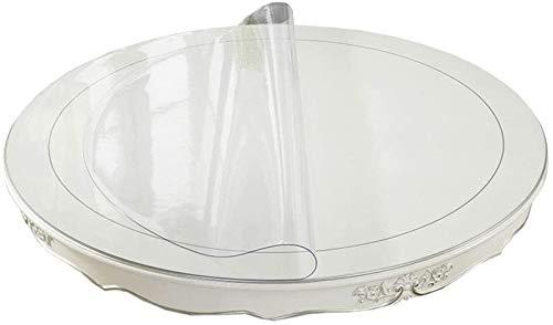 LBBGM Transparent bordsduk – högkvalitativ bordsduk lätt att rengöra och avtorkningsbar – Testad bordsfolie – skyddad bordduk – valbar storlek (2 mm 140 cm/55,2 tum)