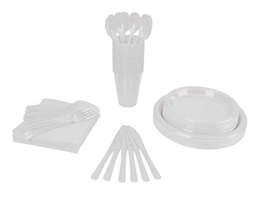 350 PCS Disposable Tableware Combo Pack INCLUDES: 50 9