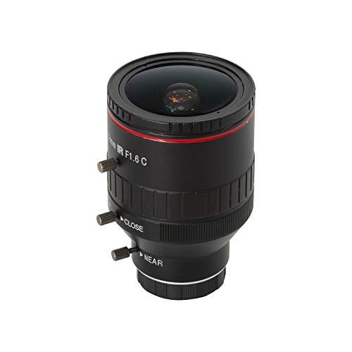 Arducam 2.8-12mm Varifocal C-Mount Lens for Raspberry Pi HQ Camera, with C-CS Adapter