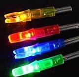 Lugii Cube avec LED flèche Nocks batterie intégrée lumineux tir à l'arc Nocks Couleur Aleatoire 6pcs/lot