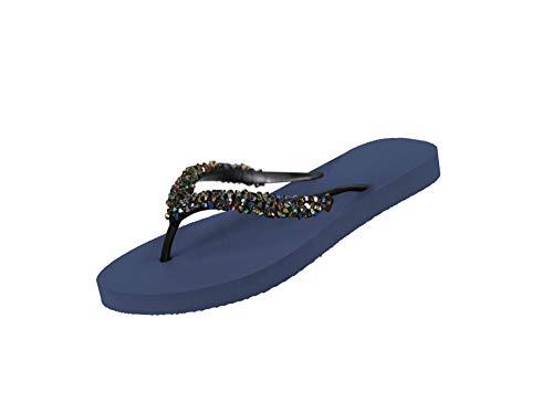 Uzurii Luxury Footwear Zehentrenner Classic Aby-Navy Blue EU 39/40