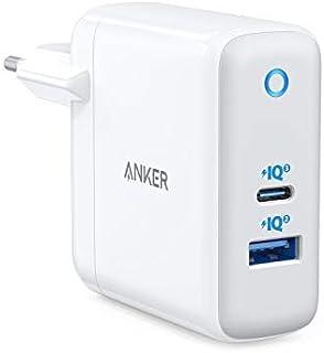 Anker Powerport+ Atom III Kompakt 60 W Piq 3.0 & GaN Tech USB-C-Väggladdare, Dubbel Port med PIQ 2.0 USB-A och 45 W USB-C,...