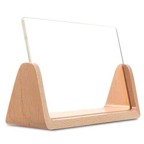 Molduras para fotos – Molduras em U de 1,5 cm, moldura rústica com base de madeira e acrílico temperado para mesa de escritório em casa